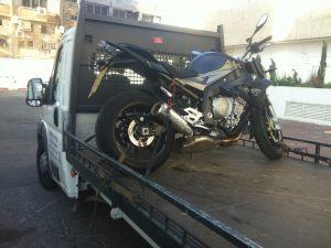 הובלת אופנוע למוסך