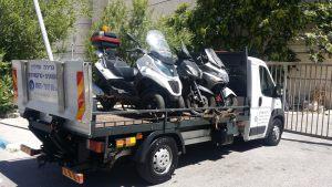 חילוץ קטנועים בשעות הצהריים